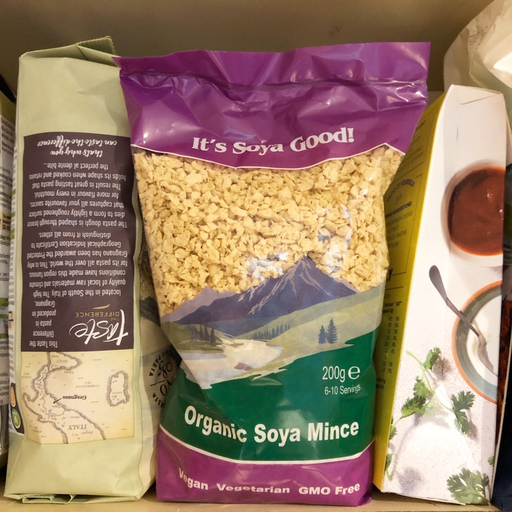 Picture of dehydrated soya mine in the cupboard